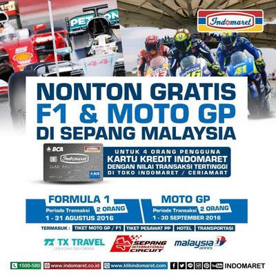 Nonton Gratis F1 & Moto GP di Sepang Malaysia – Indomaret