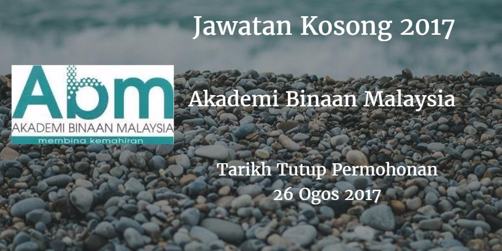 Jawatan Kosong ABM 26 Ogos 2017