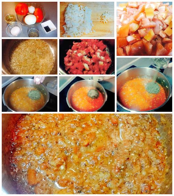 salsa casera de tomate con albahaca