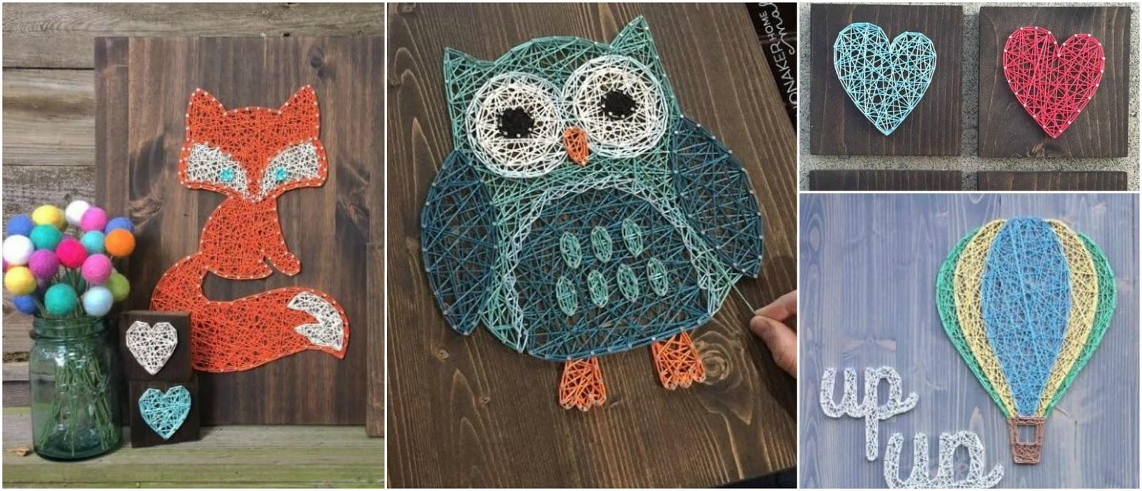 Aprende cómo hacer cuadros decorativos con hilos y clavos ...