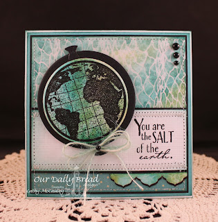 Stamps - Our Daily Bread Designs The Earth, Earth Verses, ODBD Custom Circle Ornaments Die, ODBD Custom Antique Labels & Border Die Dies, Fishing Net Background