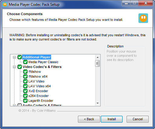 CODEC PLAYER 4.2.6 MEDIA TÉLÉCHARGER PACK