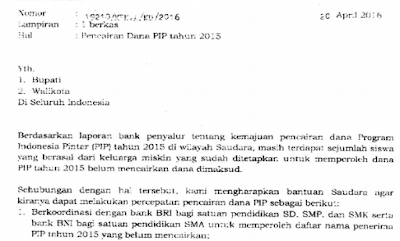 gambar surat edaran PIP