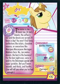 My Little Pony Joe Series 2 Trading Card