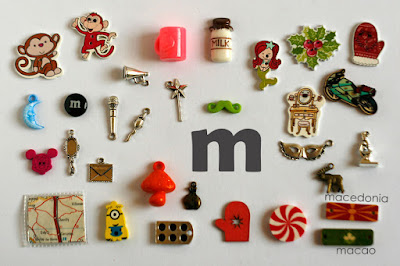 TomToy Individual letter M I spy trinkets for alphabet, Miniature abc objects, Montessori alphabet. Sorting toddler activities