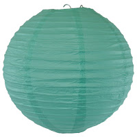 Tiffany Blue Paper Lanterns, Very Stylish For A Wedding or an Event