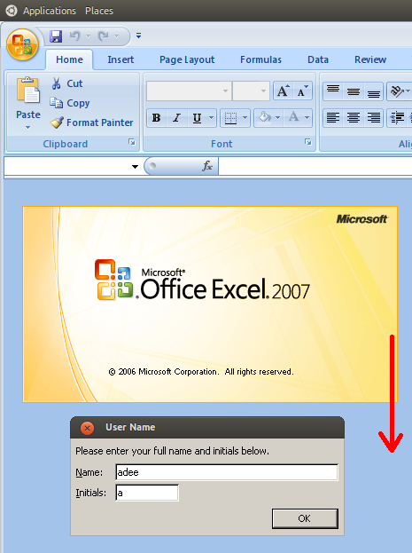Adeeology ::: Ms Office 2007 runs on Wine: how to solve blinking