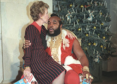 Mr. T y Nancy Reagan