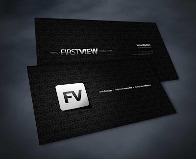 tarjetas de presentacion color negro