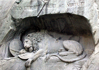 Photograph of The Lion Monument to the Swiss Guard