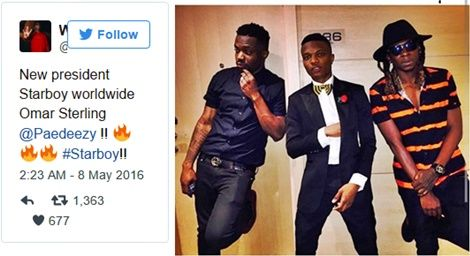 Wizkid Appoints Padae Of R2bees As President Of Starboy Worldwide