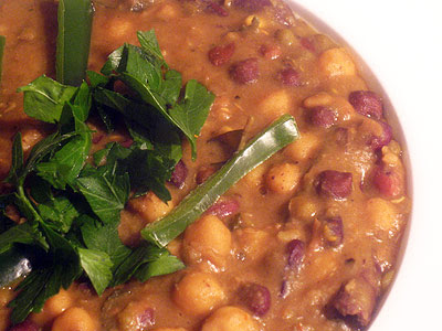 Mixed bean Indian Stew with spices