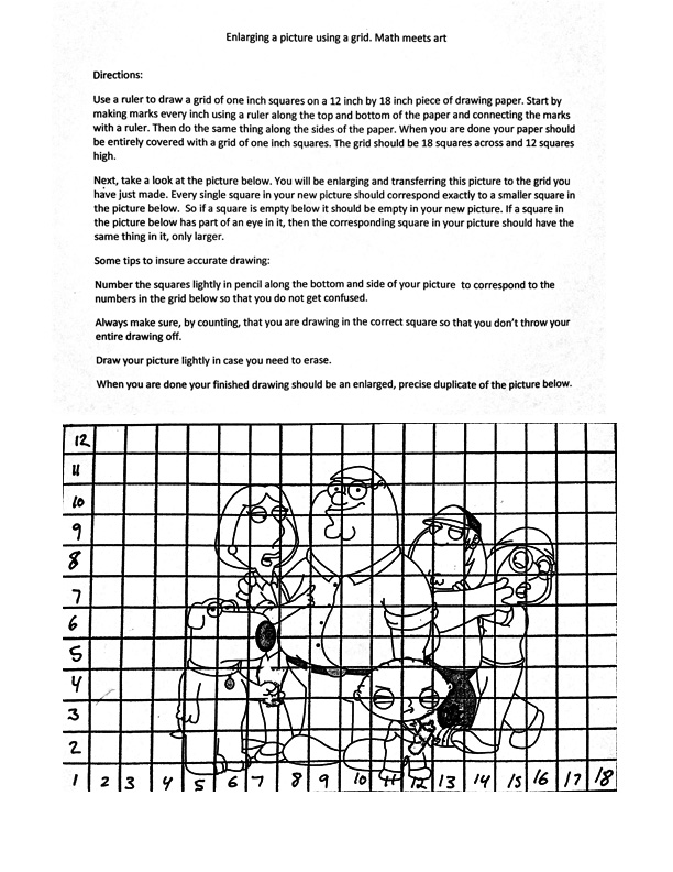 Printables Scale Drawing Worksheets the helpful art teacher how to create and use a drawing grid is it cheating mathematics figure out copy enlarge picture no as matter of fact humans have been usi