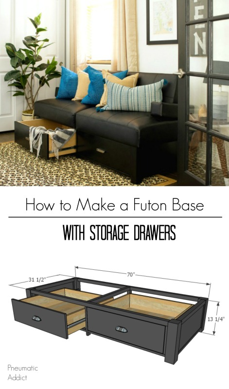 how to make custom wood storage futon sleeper couch free building plans