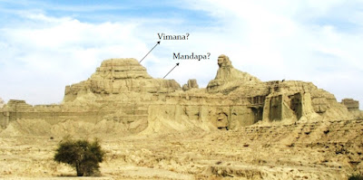A temple-like structure adjoining the Balochistan Sphinx