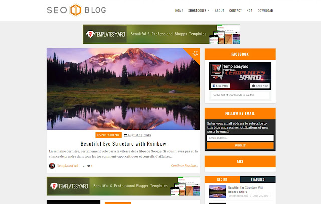 Seo Blog Responsive Personal Blog Minimalist Simple Faster Niche Viral Trending Blogger Template Theme