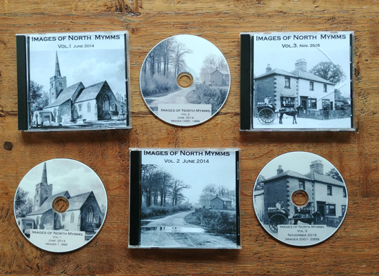 Photograph of the covers and discs for three volumes of Mike Allen's Images Of North Mymms series