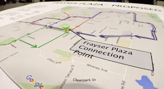 Map showing Frayser Plaza Connection