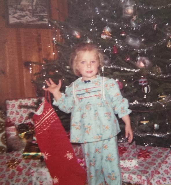 A Girl and Her Christmas Stocking