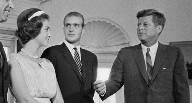 Juan Carlos y John F. Kennedy