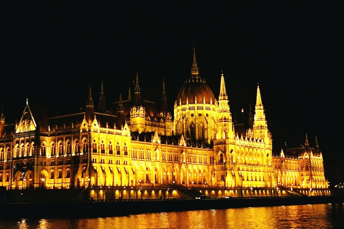 Budapest at night Danube River cruise
