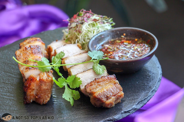 Grilled U.S. Pork Belly with special Thai Sauce of Mango Tree
