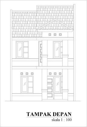 fasad rumah tingkat tampak depan