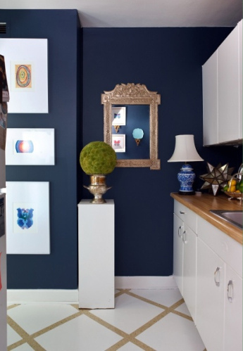 Lisa mende design best navy blue paint colors 8 of my favs for Dark blue kitchen paint