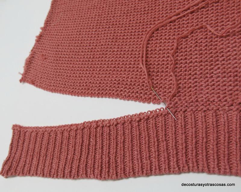 como coser jersey con puntos invisibles