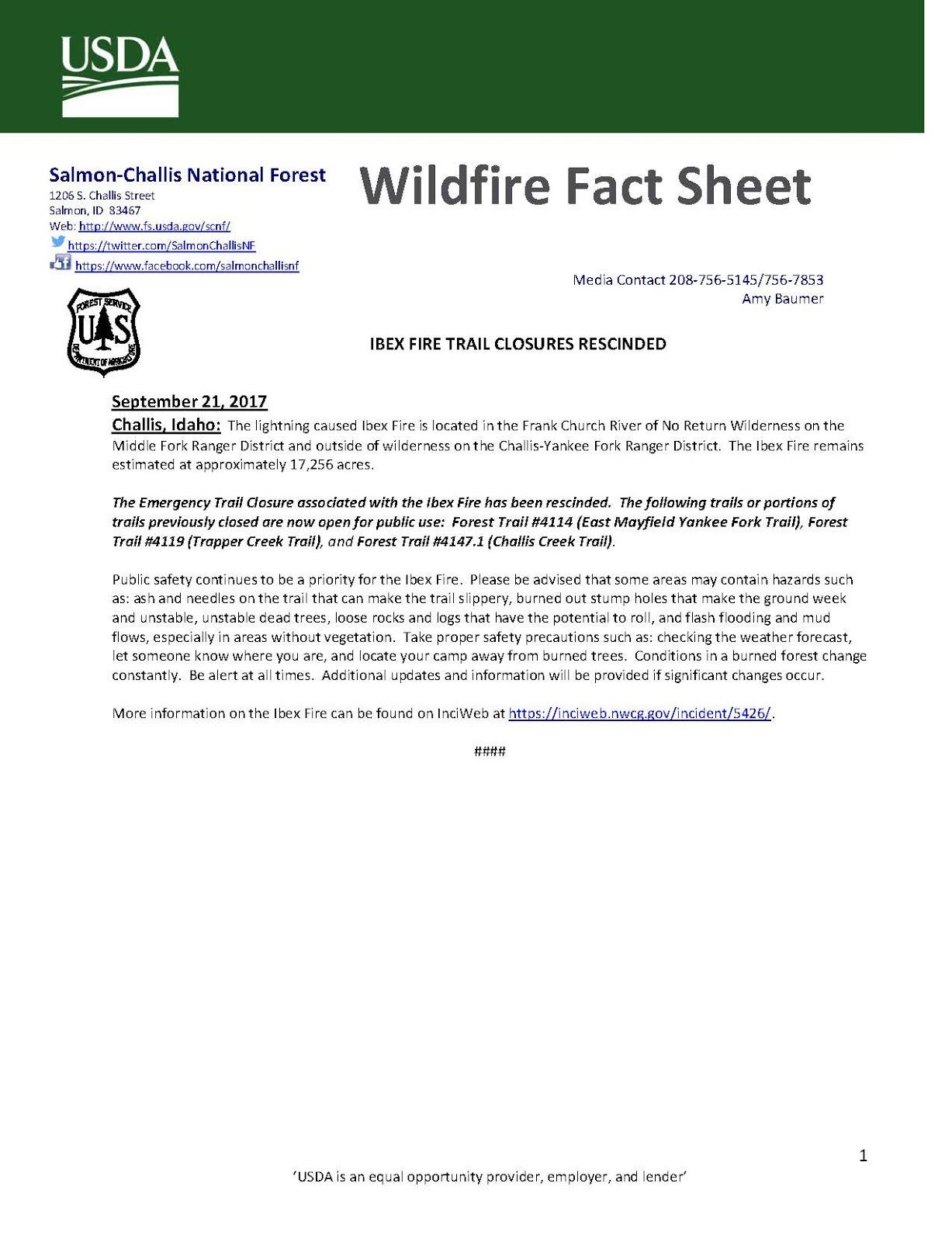 Salmon Challis National Forest