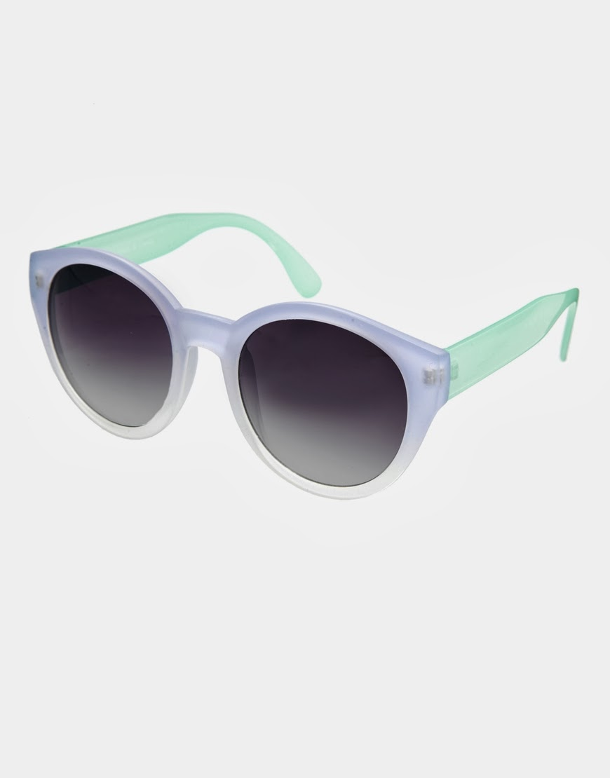 lilac and mint sunglasses