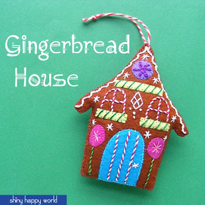 http://www.shinyhappyworld.com/2014/11/gingerbread-free-felt-christmas-ornament-pattern.html