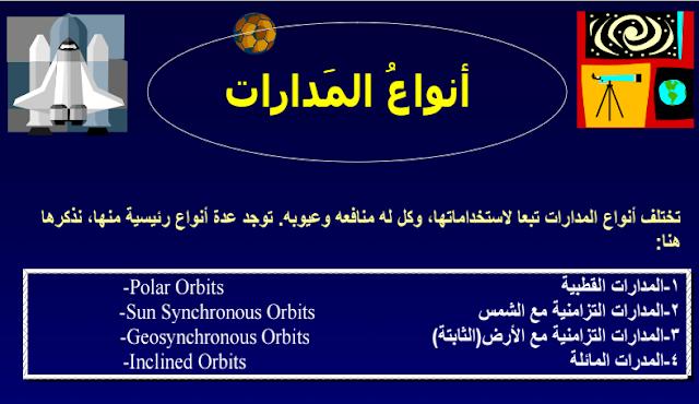 5 - تحميل كتاب أنواع مدارات الأقمار الصناعية pdf