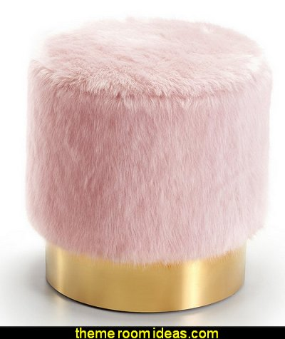 Martin Pouf  Blush pink decorating - blush pink decor - blush and gold decor - blush pink and gold bedroom decor -  blush pink gold baby girl nursery furniture - blush art prints - rose gold bedroom decor -  blush black bedroom decor - blush mint green decor - Blush Black Gold Glitter home decor - Blush Pink furniture - marble murals