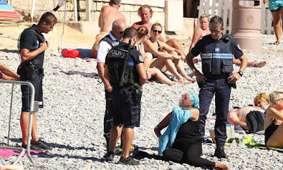 French police on Nice beach