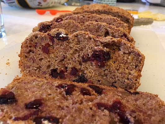 Purple Yam and Cranberry Quick Bread