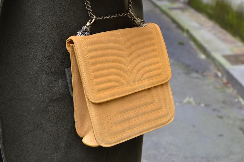 sac jaune en daim Zara