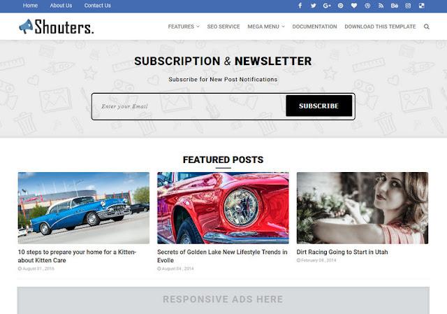 Template Blogger Super Full SEO Friendly dan Responsive Abis