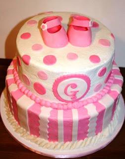 Model kue ulang tahun pertama anak perempuan