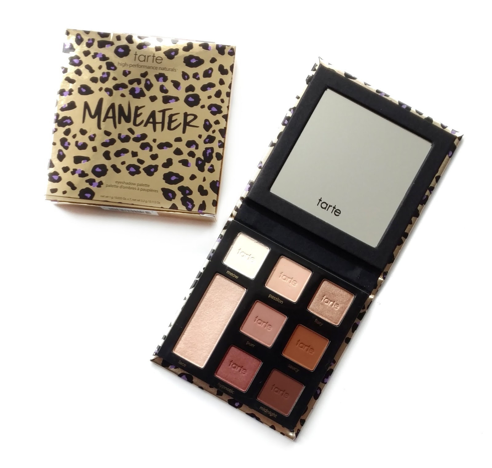 tarte maneater palette review