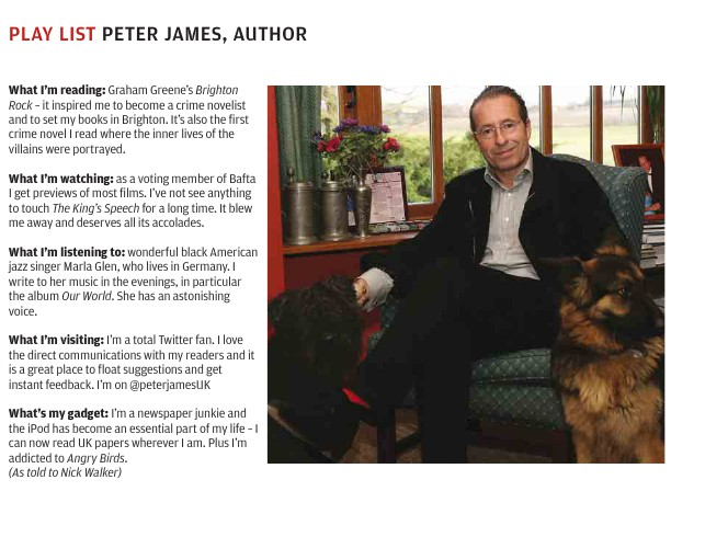 Play List (South China Morning Post) – Peter James