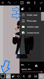 Edit foto flat design