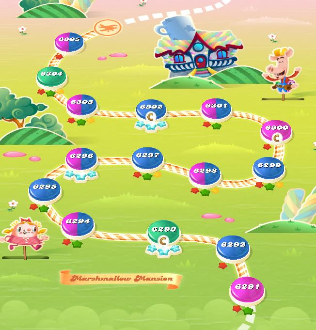 Candy Crush Saga level 6291-6305