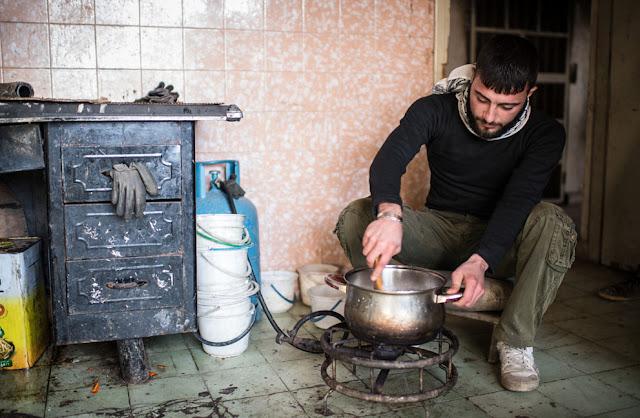 Explosivos recuperados del ejercito sirio