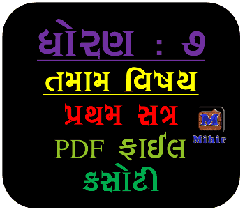 Std 7 Unit Test Paper in PDF File