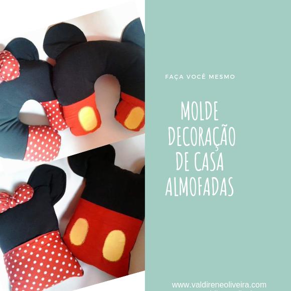 Molde De Almofadas Da Minnie E Do Mickey Valdirene Oliveira