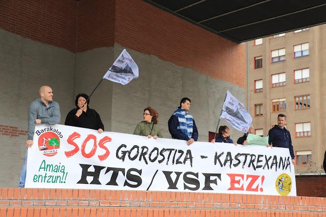 protesta de Barakaldo Naturala contra la VSF