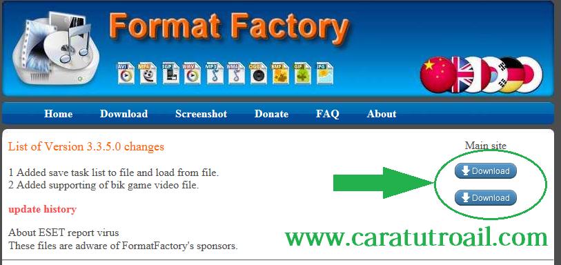 Cara Merubah Format Video dengan Format Factory
