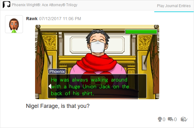 Phoenix Wright Ace Attorney Trials and Tribulations Union Jack testimony