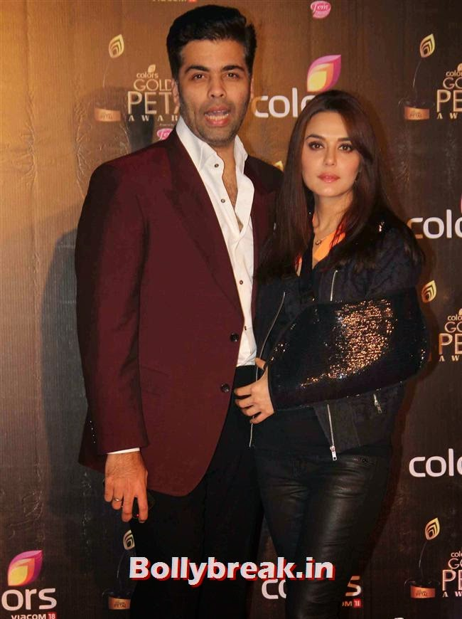 Karan Johar and Priety Zinta, Colors Tv 3rd Golden Petal Awards